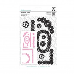 A5 Stanzschablonen Set (10Stk) -Blumenrahmen