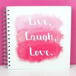 8x8 Inch Scrapbook Album Live, Laugh, Love (SCALB033)