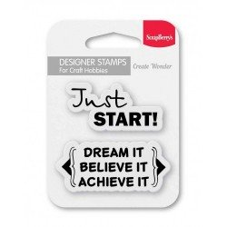 Set Of Clear Stamps - Just Start (SCB4907105)