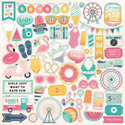 Summer Dreams 12x12 Inch Element Stickers (DR126014)