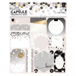 Little Notes (12pcs) - Capsule - Geometric Mono