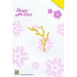 Shape Die / Stanzschablone Bare branch