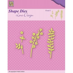 "Lene Die / Stanzschablone s flowers & leaves ""floral-2"""