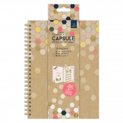 A5 Notebook - Capsule - Geometric Geometric Kraft