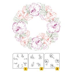 Layered Clear stamps - Wreath-1 (3 pcs)
