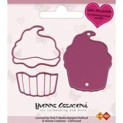 Die / Stanzschablone - Yvonne Creations - Love - Cupcake