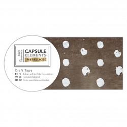 Bastelklebeband (3m) - Capsule Collection - Elements Metallic - Tupfen Silber