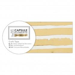 Bastelklebeband (3m) - Capsule Collection - Elements Metallic - Streifen Gold
