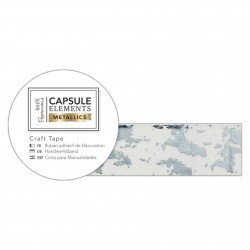 Bastelklebeband (3m) - Capsule Collection - Elements Metallic - Textur Silber