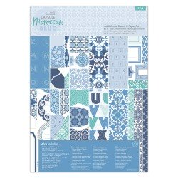 A4 Ultimate Die-cut & Paper Pack (48pk) - Capsule - Moroccan Blue