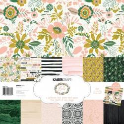 Kaisercraft paper pack 30,5x30,5cm, Fleur