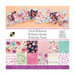 American Crafts DCWV 30,5x30,5cm, x48 floral brilliance