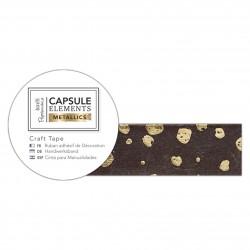 Bastelklebeband (3m) - Capsule Collection - Elements Metallic - Tupfen Gelb