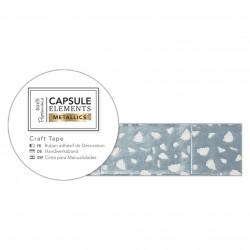 Bastelklebeband (3m) - Capsule Collection - Elements Metallic - Weiß & Silber