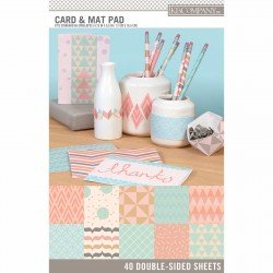 "K&Company paper pad 4,75x6,5"" x40, double side card & mat"