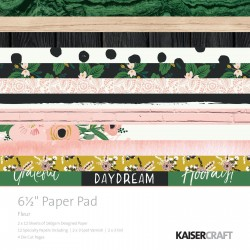 Kaisercraft paper pad 16,5x16,5cm Fleur