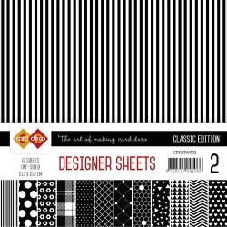 Card Deco - Designer Sheets - Classic Edition - schwarz