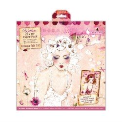 "12 x 12"" Colour Me In Paper Pack (32pk) - Santoro"