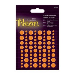 3D Neon Shimmer Dome Stickers - orange