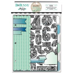 Bo Bunny misc me zip-a-dee-doodle journal dividers