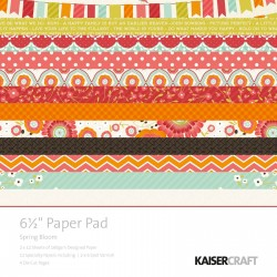 Kaisercraft spring bloom paper pad 16,5x16,5cm