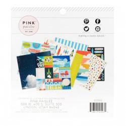Pink Paislee Wild Child paper pad, 15,2x15,2cm boy x36