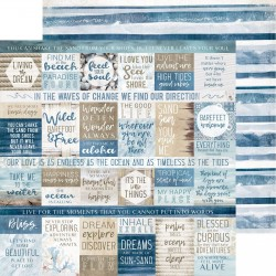 Kaisercraft paper 30,5x30,5cm Beach Shack - wave break