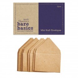 Mini Kraft Envelopes (12pcs) - Bare Basics