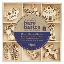 Holzformen (45Stk) - Bare Basics - Feierlichkeiten