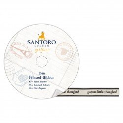 13 Satin Schleifenband Bedruckt - Santoro - Ohne Viele Gedanken
