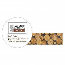Bastelklebeband Baumstumpf (3m) - Capsule Collection - Elements Wood