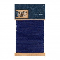 10m Jute Kordel - Denim Blue