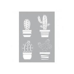 Stencil / Schablone Kakteen