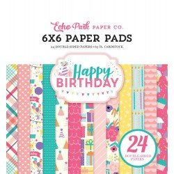 Happy Birthday Girl 6x6 Inch Paper Pad