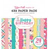 Happy Birthday Girl 6x6 Inch Paper Pad