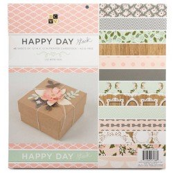 "Happy Day Stack - Paper Pad 12"" x 12"""