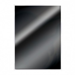 Tonic Studios mirror card gloss A4 x5 glossy black