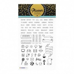 Studio Light clear stamp A5 planner journal nr.04