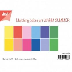 Joy! Crafts papierset A4 2x6 vel dubbelzijdig 200g warm summe