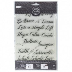 Kelly Creates stamps traceable quote 3 x29