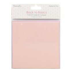 Back to Basics Perfectly Pink 6x6 Inch Cards & Envelopes (DCCAE039)