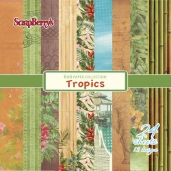 Scrapberrys Tropics Paper Set 6x6 Inch One Sided (24 Sheets Per Pack) (SCB2206094808x)