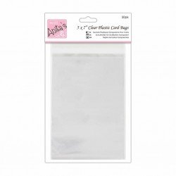 Clear Plastic Card Bags 5x7 Inch (50pk) (ANT 1651006)