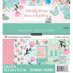 Butterfly Blooms 6x6 Inch Paper Pad (MPP0358)