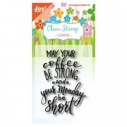 Joy!Crafts Clear Stempel Coffee Txt - Monday