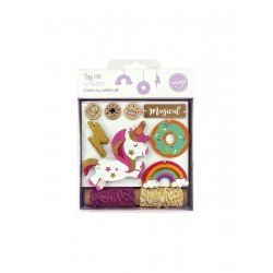 Unicorn Tag Kit Tag-50pcs/ rope-10y/ stamp-3pcs
