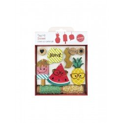 Sweet Tag Kit Tag-50pcs rope-10y/ stamp-3pcs