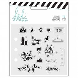 Heidi Swapp memory planner clear stamps x17 everyday