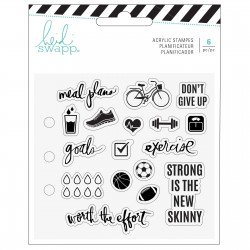 Heidi Swapp memory planner clear stamps x18 exercise