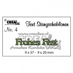 Crealies Deutsche Text Stanzschablone no.4 Frohes Fest